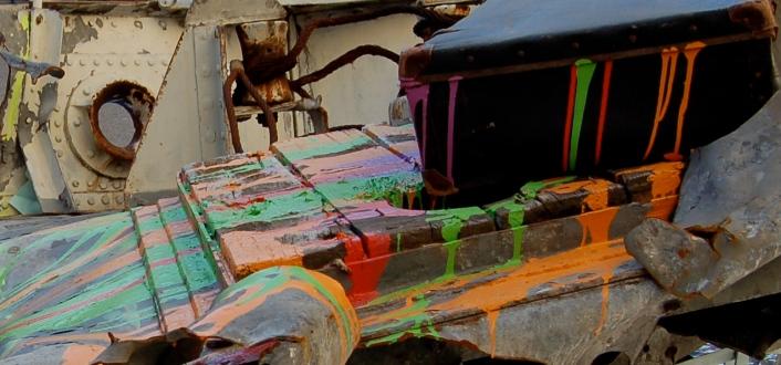 """@=""""Charline Bourcier Installation Passage de l'art coulures"""""""
