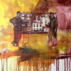 """@=""""charline bourcier jeune peinture contemporaine coulures"""""""