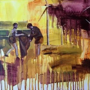 """@=""""charline bourcier coulures jeune peinture contemporaine"""""""