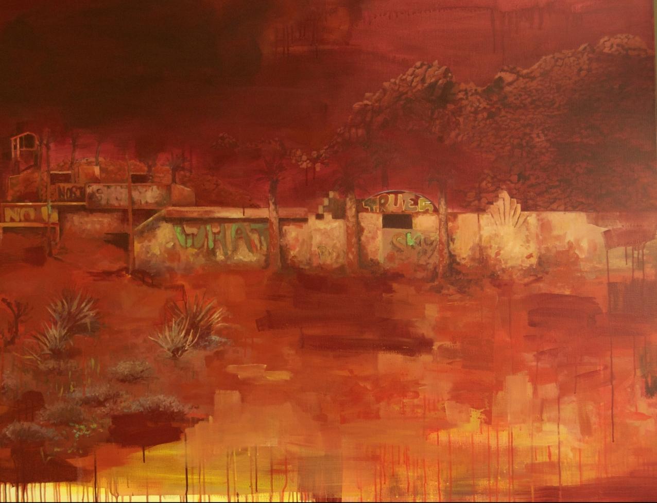 Desert, acrylique sur toile, 114 x 146 cm, 2018.